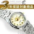 【日本製逆輸入SEIKO5】セイコー5 レディース 自動巻き 腕時計 ホワイト×ゴールド ステンレスベルト SYMK41J1