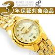 【日本製逆輸入SEIKO5】セイコー5 レディース 自動巻き 腕時計 ホワイト ゴールドステンレスベルト SYMK46J1