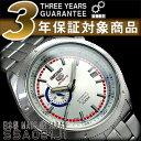 日本製逆輸入SEIKO 5 セイコー5 手巻き&自動巻き式 メンズ腕時計 シルバー×レッド SSA061J1