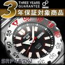 逆輸入 SEIKO5 メンズ 手巻き付き機械式 腕時計 黒 赤 SRP485K1
