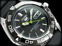 【日本製逆輸入SEIKO5SPORTS】セイコー5 メンズ自動巻き腕時計 IPブラックベゼル ギョーシエブラックダイアル ウレタンベルト SNZB23J2