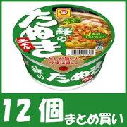 【まとめ買い】マルちゃん 緑のたぬき天そば 東向け (101g×12個)