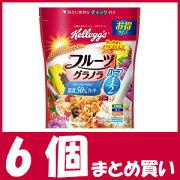 【まとめ買い】ケロッグ フルーツグラノラ ハーフ 徳用袋 (500g×6個) 【栄養機能食品】