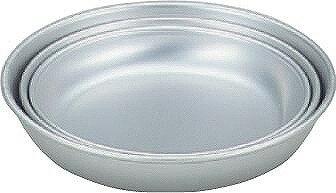 アカオ アルミ皿 15cm 日本製  アカオアルミ AKAO 《 アルミ食器 キャンプ・バーベキュー用 給食用 15センチ》