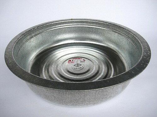 昔ながらのタライ トタン製 48cm 【たらい トタンタライ 金たらい カナダライ 洗い桶 洗桶】