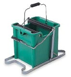 【テラモト】 CE-441-500-0 モップ絞り器 C型 ステップ付 ポリ製 (モップ糸を洗う・絞る)