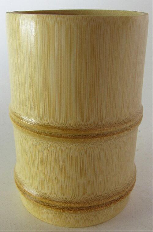 竹製 箸立 フシ付 白 Φ9×13.5 28-024