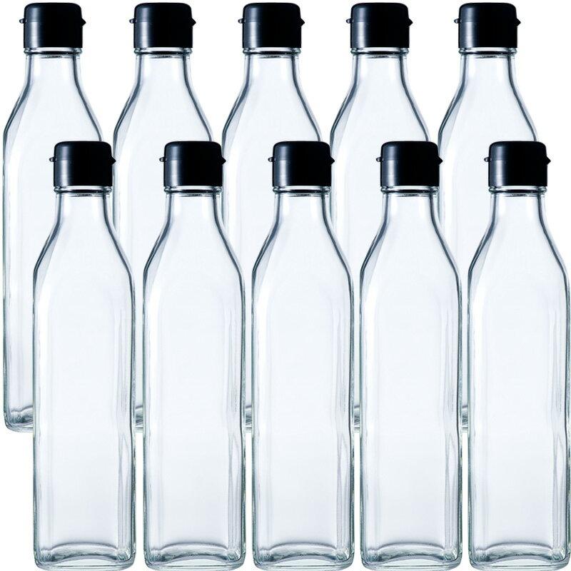 RoomClip商品情報 - ガラス瓶 ドレッシング瓶 SO-300角 290ml -10本セット- sauce bottle