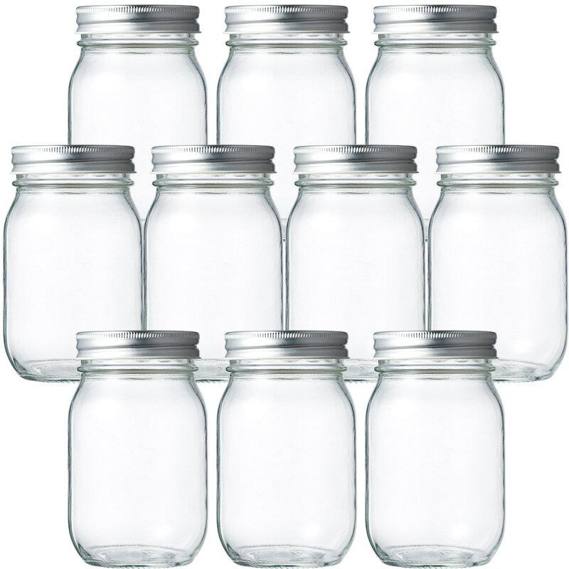 ガラス保存容器 マヨネーズ瓶 マヨネーズ450 477ml -10本セット- jar