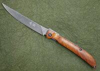 光ヒカリフォールディングステーキナイフダマスカス鋼ココボロウッドフォールディングナイフ