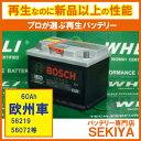 再生なのに新品以上の高性能SEKIYA再生バッテリー 欧州車用 【 60Ah 】『経済局認定の独自技術でバッテリーを新品以上の性能に再生』【リビルト】【中古】