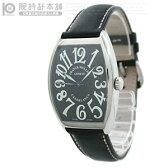 フランクミュラー カサブランカ FRANCKMULLER 6850   CASA 黒/黒革 メンズ 時計 腕時計