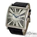 フランクミュラーFRANCKMULLERマスタースクエアキングMASTERSQUAREKING6000KSCDTM.SQ銀黒革メンズ腕時計#95090