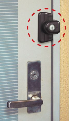 ガードロック 留守わからん錠 No.555 [ 防犯 鍵 キー ドア 玄関 日用品雑貨・文…...:select-tool:10040028
