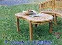 チーク バナナテーブル [ 無垢 テーブル 家具 チーク材 おしゃれ コンパクト 木 ロー ローテーブル 円形 激安 ベランダ ナチュラル 完成品 120 高さ50cm ] 花・ガーデン・DIY ガーデニング ガーデンファニチャー テーブル 木製
