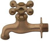 ガーデン用水栓(整流器つき) 横水栓(レトロ)701-025[ カクダイ 水栓金具 ガーデン ハンドル ガーデン用水栓 蛇口 屋外 ] 02P03Dec16