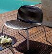 NARDIナルディ ニンフィアサイドテーブルとリラックスチェアー2脚の3点セット(ブラウン)【smtb-kd】[ ガーデンチェア ガーデンテーブル アルミ ]