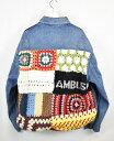 AMBUSH/アンブッシュ 19AW アーティザナル ニットパッチデニムジャケット サイズ:2 カラー:ブルー【中古】【古着】【USED】【191201】【yast】