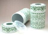 """杜尔罐装茶叶罐""""Roiyarugurin"""" - 为明天音乐;[ティーキャディー デュール缶 「ロイヤルグリーン」]"""