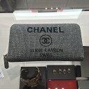 国内買い付けなしのカラー・新作パリからお取り寄せ【CHANEL】17P待望のドービルラウンドジップお財布・グレー