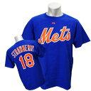 ショッピングTシャツ MLB メッツ ダリル・ストロベリー Tシャツ ブルー マジェスティック Cooperstown Player Name & Number Tシャツ 2011【1910価格変更】【1112】