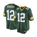 美式足球 - お取り寄せ NFL パッカーズ アーロン・ロジャース ユニフォーム グリーン ナイキ Limited ユニフォーム