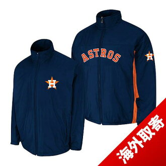 Majestic MLB Houston Astros Authentic Triple Climate-in-1 On-Field jacket (Navy)
