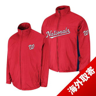 Majestic MLB Washington nationals Authentic Triple Climate-in-1 On-Field jacket (red)