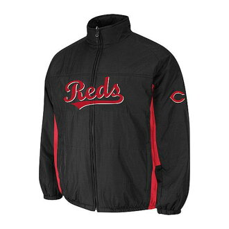 MLB Cincinnati Reds Authentic Double Climate On-Field jacket (black) Majestic