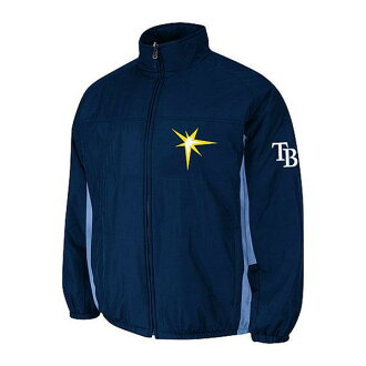 MLB rays jacket Navy majestic /Majestic (On-Field Authentic Double Climate Jacket)