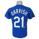 MLB ドジャース ダルビッシュ有 プレイヤー Tシャツ (日本サイズ) マジェスティック/Majestic ブルー