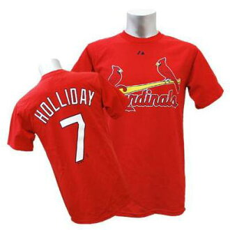 MLB Cardinals # 7 Matt Holliday's Majestic Player t-shirt (red)