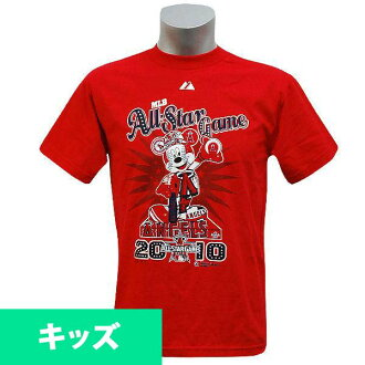 Majestic MLB All-Star 2010 Youth Mickey Angels Statue T shirt (red)