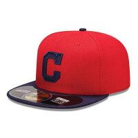 MLB インディアンス キャップ/帽子 ゲーム ニューエラ Authentic Diamond Era 59FIFTY BP キャップ 【1803セール】の画像
