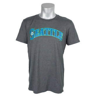 MLB Seattle Mariners Official Road Wordmark T-shirt (gray) Majestic