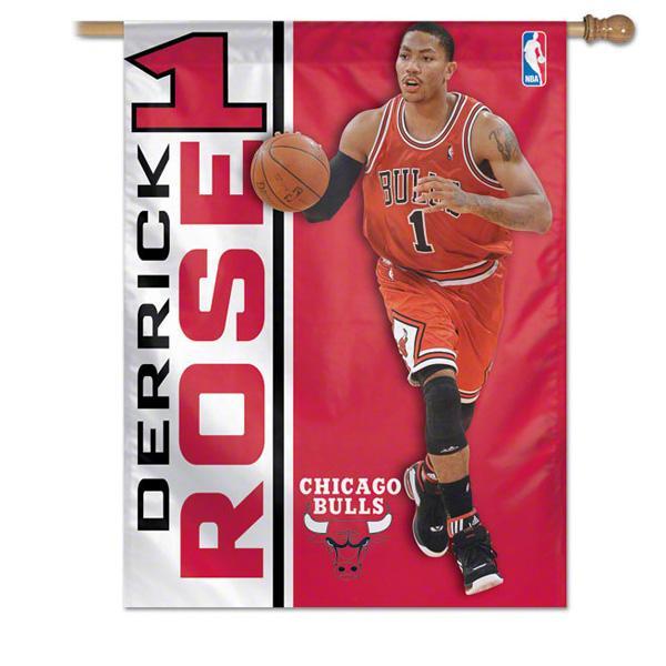 NBA Bulls #1 Derrick Rose Banner flag Wincraft