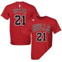 NBA ブルズ ジミー・バトラー Tシャツ レッド アディダス NET NUMBER Tシャツ