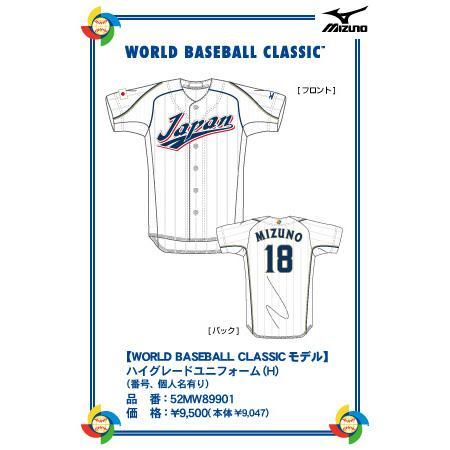 WORLD BASEBALL CLASSIC ハイグレードユニ form (home) Mizuno fielder (stock number, personal names)