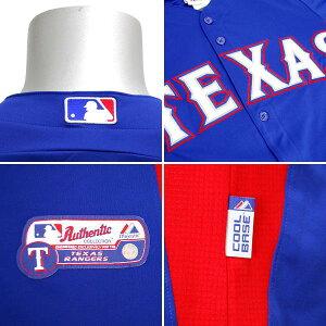 MLBレンジャーズ#11ダルビッシュ有ACCoolBasePlayerBPユニフォーム2011(ブルー)Majestic【あす楽対応】