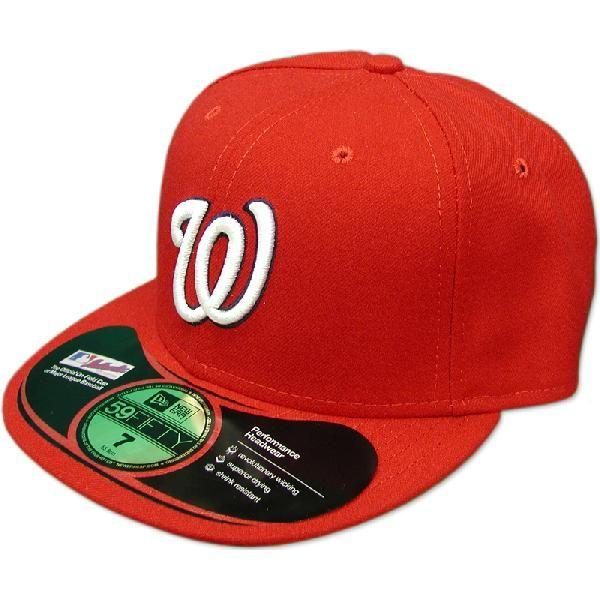 MLB Washington National's Authentic Performance On-Field cap (home) New Era