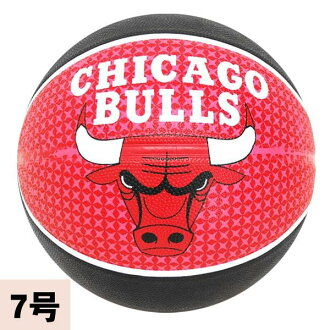 NBA Chicago Bulls TEAM RUBBER ball 2011 (black/red -7 No. sphere) SPALDING