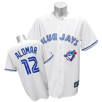 MLB Blue Jays #12 Robert Alomar Cooperstown Player replica uniform (white) Majestic