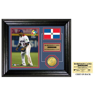 WBC 2013 Dominican Republic representative # 24 Robinson canó Desktop Photo Mint and The Highland Mint Bronze Coin