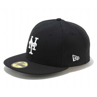 New Era MLB New York Mets 59FIFTY Custom Color Cap (black/white)