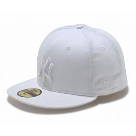 New Era MLB New York Yankees 59FIFTY Custom Color Cap (white/white)