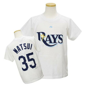 Majestic MLB rays # 35 Matsui Hideki Jr. Player T shirt JPN Ver (white)
