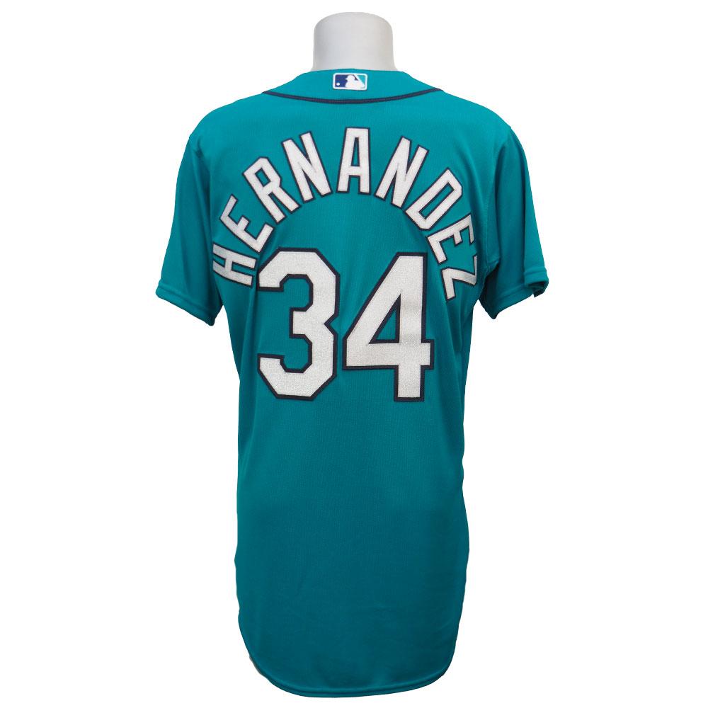 MLB マリナーズ フェリックス・ヘルナンデス ユニフォーム オルタネート2 マジェスティック Authentic Player ユニフォーム
