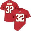 美式足球 - お取り寄せ NFL チーフス マーカス・アレン Tシャツ レッド Majestic