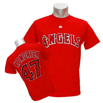 Majestic MLB Angels # 47 Howie Kendrick Player T shirt (red)