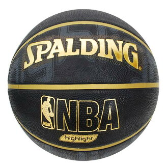 NBA GOLD HIGHLIGHT RUBBER ball (ball No. 7-black/gold) SPALDING